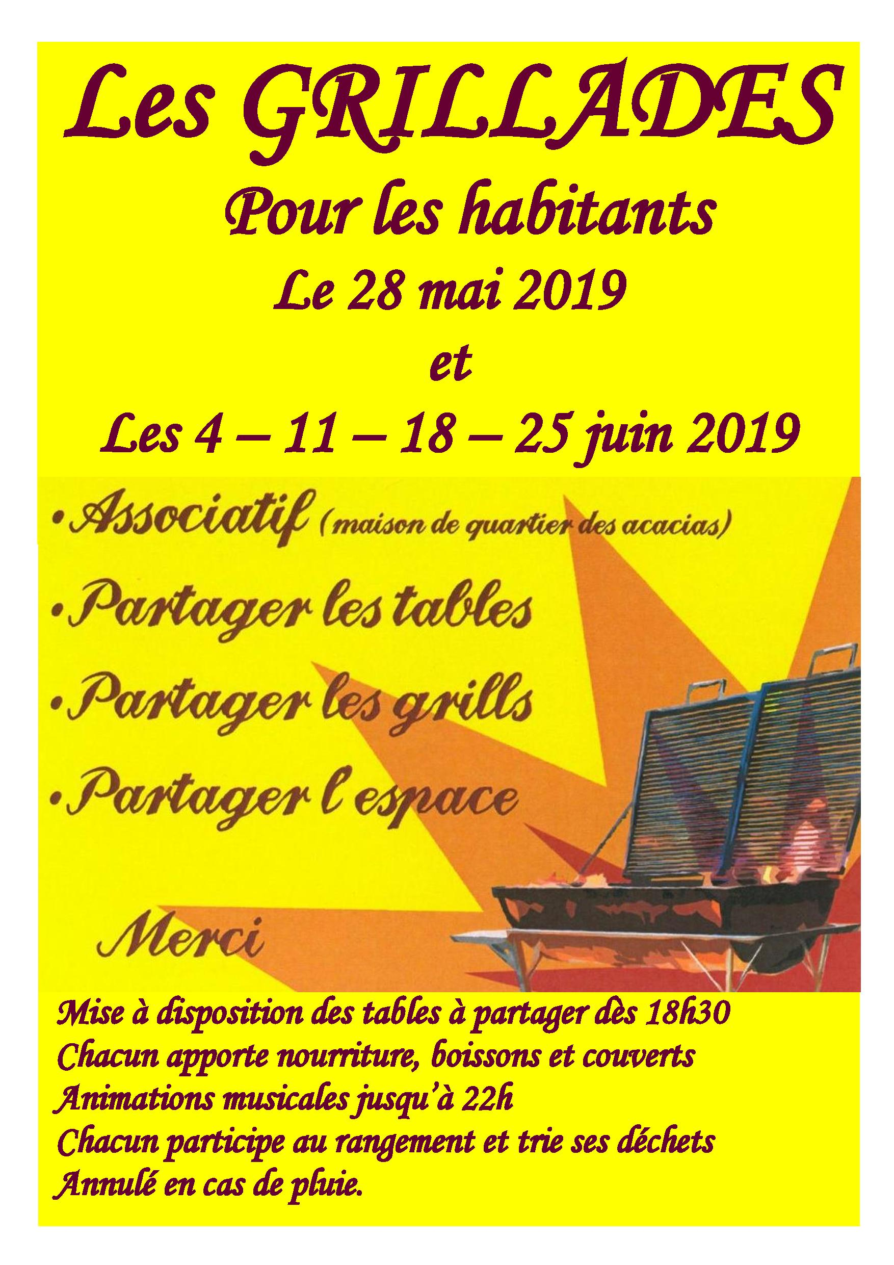 Annonce grillades 2019